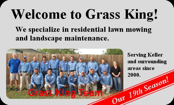 Keller Texas Lawn Service by Grass King
